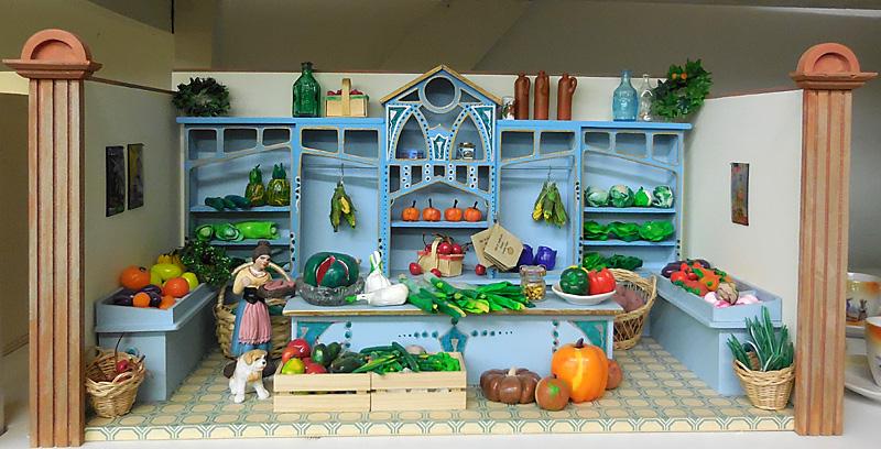 Gemüseladen fertig Puppenstube selber machen gestalten