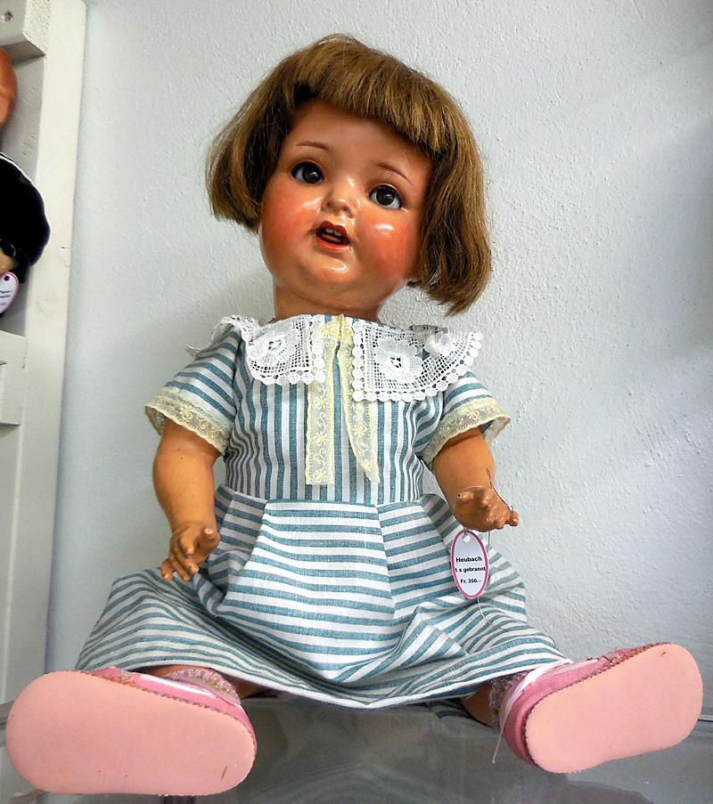 Puppe Heubach 1xgebrannt Ponny-Frisur