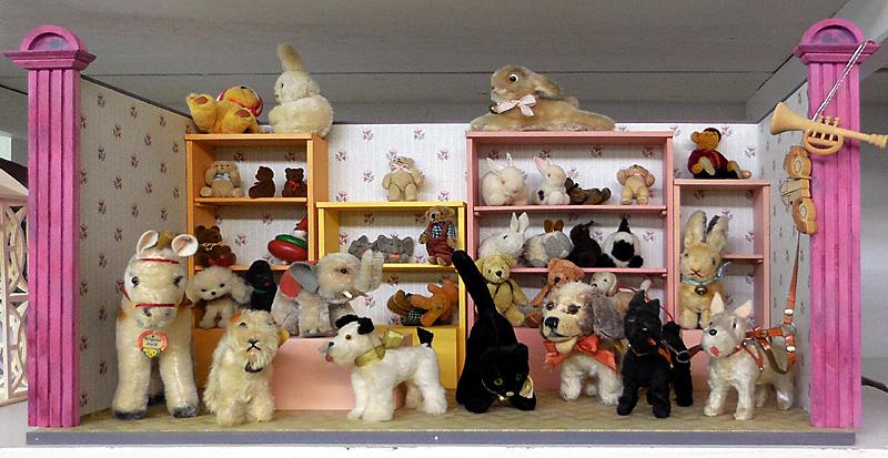 Puppenstube Laden Steiff-Tiere Teddybär